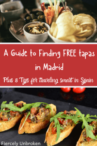 Free Tapas Madrid Pin