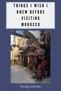 Visiting Morocco Pin